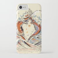 huebucket iPhone & iPod Cases featuring The Wave of Love by Huebucket