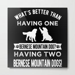 Bernese Mountain Dog Cool Gift Idea Metal Print