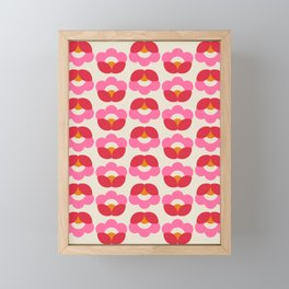 Flowers geometry - retro pattern no2 Framed Mini Art Print