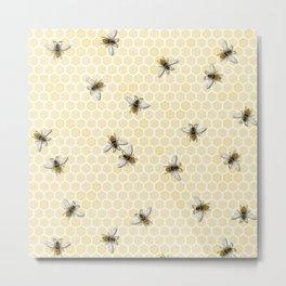 Honey a Bee Farm! Metal Print