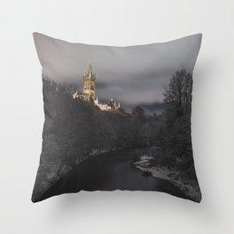 Winter in Glasgow Throw Pillow