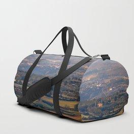 Italian countryside view Duffle Bag