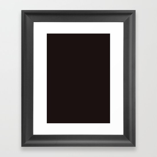 Licorice Framed Art Print