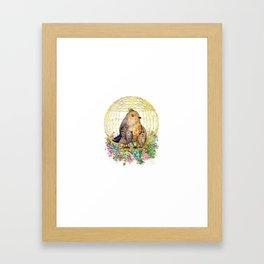 Birds in Cage Framed Art Print