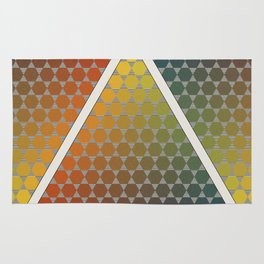 Lichtenberg-Mayer Colour Triangle vintage remake, based on Mayers' original idea and illustration Rug