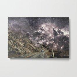 Space gazing Highway One Metal Print