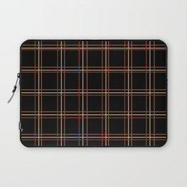 ARREST multi colour lines plaid pattern on black Laptop Sleeve