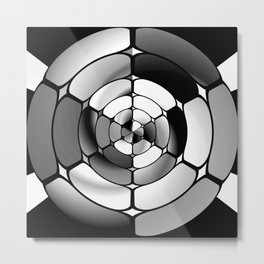 Chromed black and white Metal Print