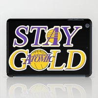 stay gold iPad Cases featuring Stay Gold by Ant Atomic