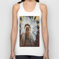 native american Tank Tops featuring Native American by Mary J. Welty