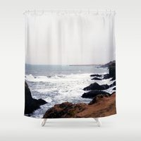 iceland Shower Curtains featuring Iceland by Ninja Reith