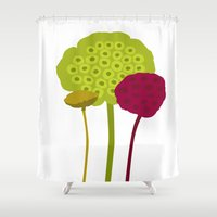 plants Shower Curtains featuring Plants by Studio CODECO