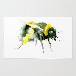 Bumblebee minimalist bee decor Rug