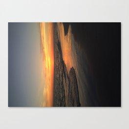 Sunset on edge Canvas Print