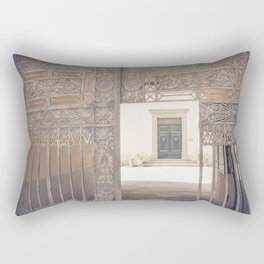 Door in Door Lucca italy tuscany Rectangular Pillow