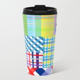 Crazy Plaid Spring Metal Travel Mug