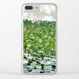 Lily Pads On The River Clear iPhone Case