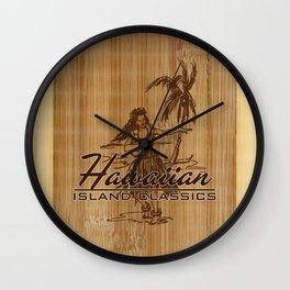 Tradewinds Hawaiian Island Hula Girl  Wall Clock