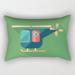 Civilian Helicopter Rectangular Pillow