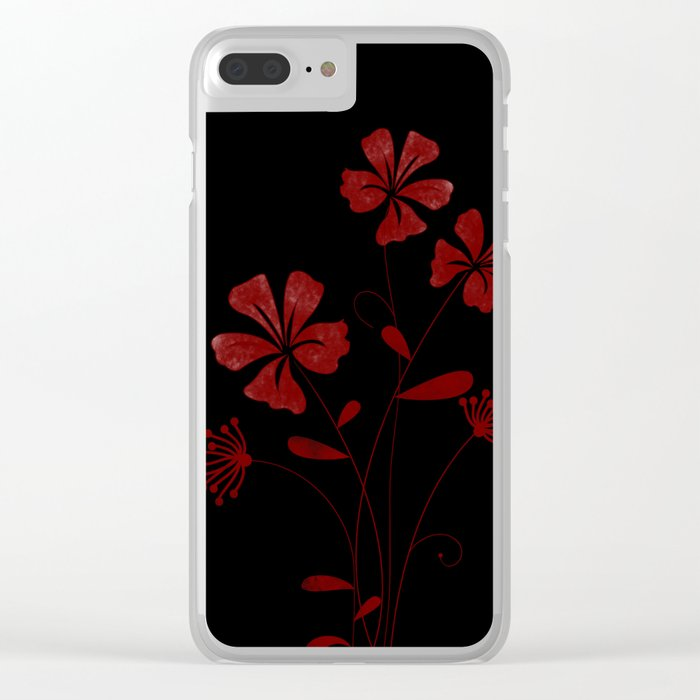 Flower..5 Clear iPhone Case