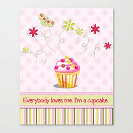 Cupcake Love Canvas Print