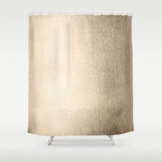 Simply White Gold Sands Shower Curtain
