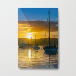 Sailboat Sunrise Metal Print