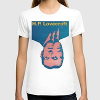 lovecraft T-shirts featuring H.P. Lovecraft by @DrunkSatanRobot