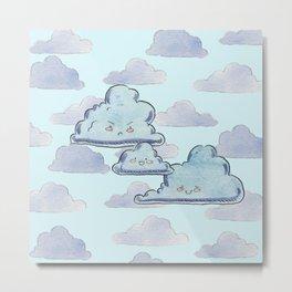 Little Cloud Family Metal Print