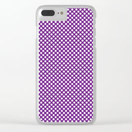 Seance and White Polka Dots Clear iPhone Case