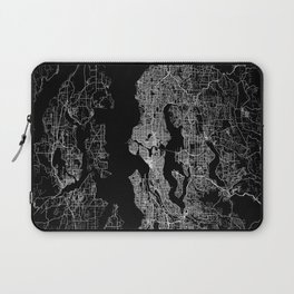 Seattle map Laptop Sleeve