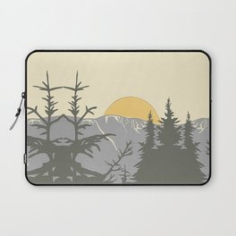 Ski Mountain Sun and Trees - Breckenridge  Laptop Sleeve