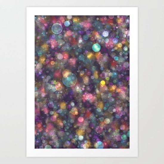 Bokeh Blur Art Print