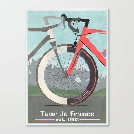 Tour De France Bicycle Canvas Print