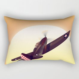 Vintage fighter plane Rectangular Pillow