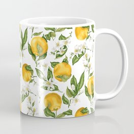 Citrus OrangeTree Branches with Flowers and Fruits Coffee Mug