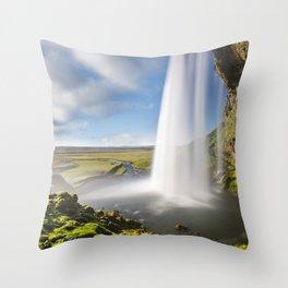 Seljalandsfoss Falls Throw Pillow