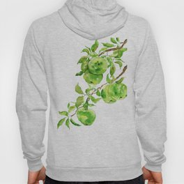 green apple watercolor Hoody