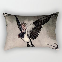 """Thumbelina"" Fairy Tale by W Heath Robinson Rectangular Pillow"