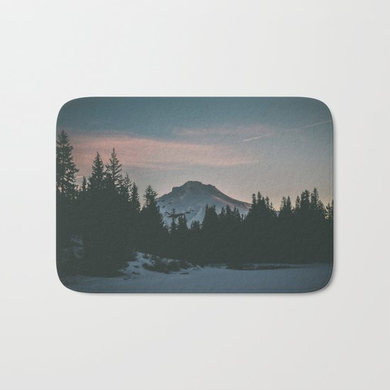 Frozen Mirror Lake Bath Mat