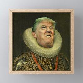 Trump painting face-swap Framed Mini Art Print