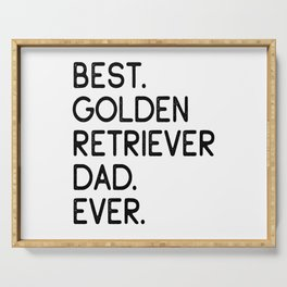 Best Golden Retriever Dad Ever Dog Owner Gift Serving Tray