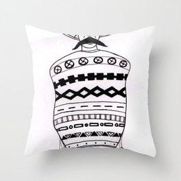Poncho Mex Throw Pillow