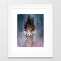 magical girl Framed Art Prints featuring Magical Girl  by Alisa Klump