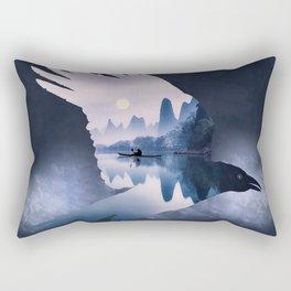 Crow Mystic River - I - dark background Rectangular Pillow