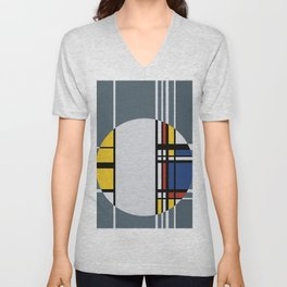 Abstract Composition 429 Unisex V-Neck