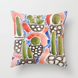 Cocktail Bling Plants Throw Pillow