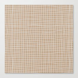 White and Brown Weave Pattern Canvas Print