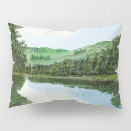 non-mirrored mountains Pillow Sham