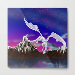 Dragon of the Stars - Itisha the Dragoness Metal Print
